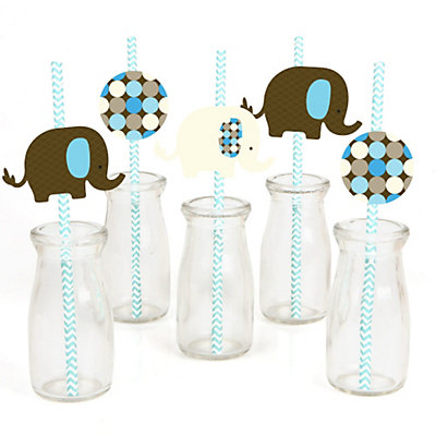 Blue-Elephant-Straw-Decoration-Kit
