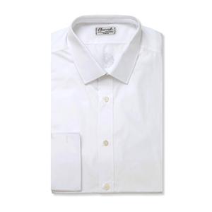 2-White Slim-fit Cotton Shirt by Charvet