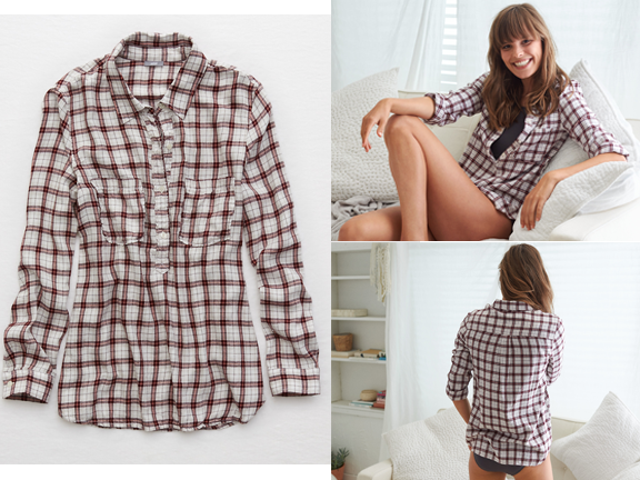 Apparel-American Eagle-Aerie Woven Button Down Shirt.png