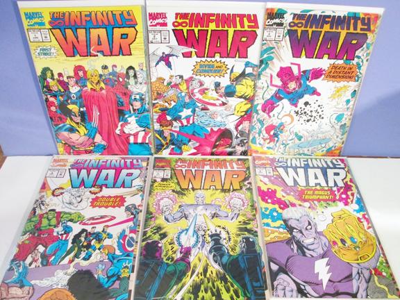 Comics-Marvel-1992 Marvel INFINITY WAR Complete SET.png