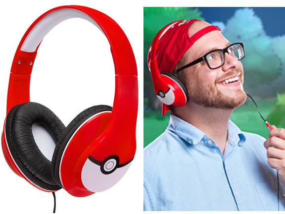 Headphone-Pokemon-Pokémon Over Ear Headphones with Mic