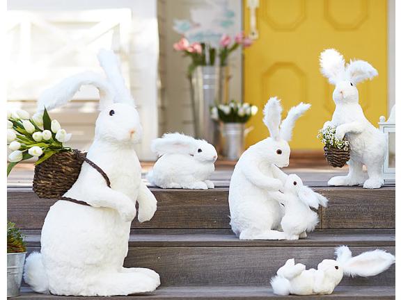 Decoration-Parent & Child-White Sisal Bunny Decor Parent & child.png