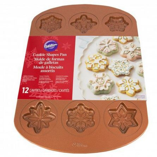 Copper Vintage Snowflake Cookie Pan