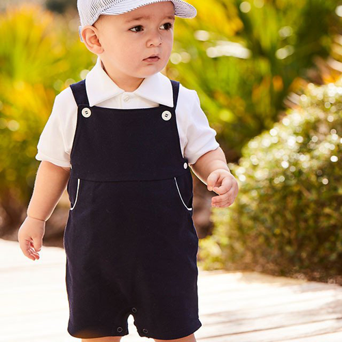 Bella Bliss Pique Jersey Navy Shortall