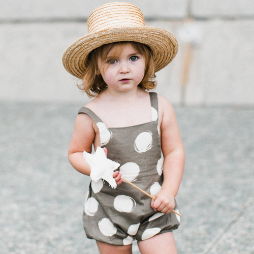 Dot Criss Cross Romper by Rylee & cru