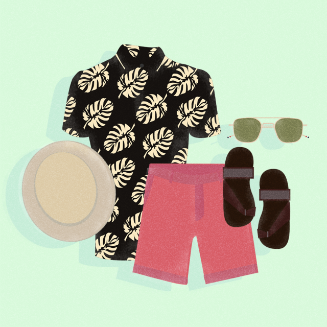 Illustration of Men's Summer Clothes