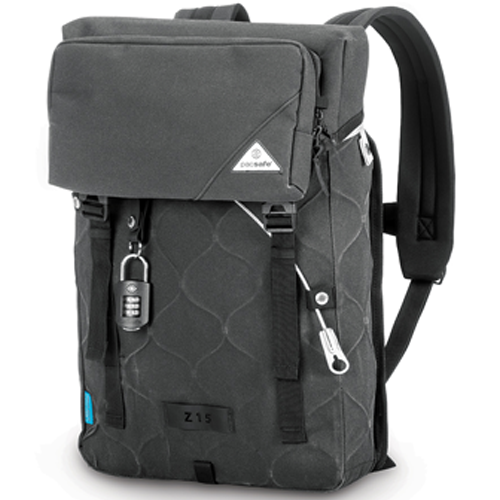 Travel Essentials for Men : Pacsafe-Ultimatesafe Z15 anti-theft backpack