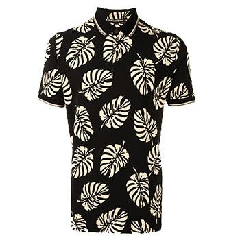 Men's Summer Clothes : Dolce & Gabbana Palm Tree Print Polo Shirt
