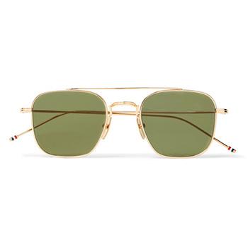 Men's Summer Clothes : Thom Browne Gold-Tone Sunglasses