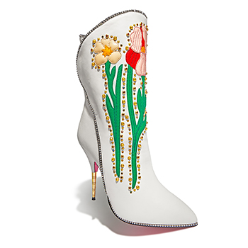 GUCCIEmbellished Floral Boot