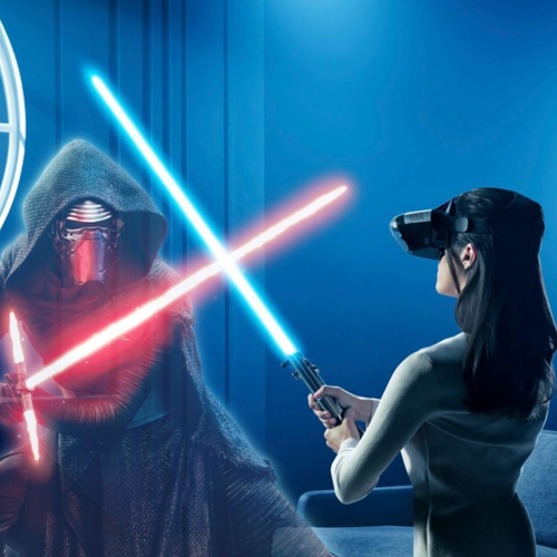 Lenovo Star Wars AR Headset with Lightsaber Controller and Tracking Beacon
